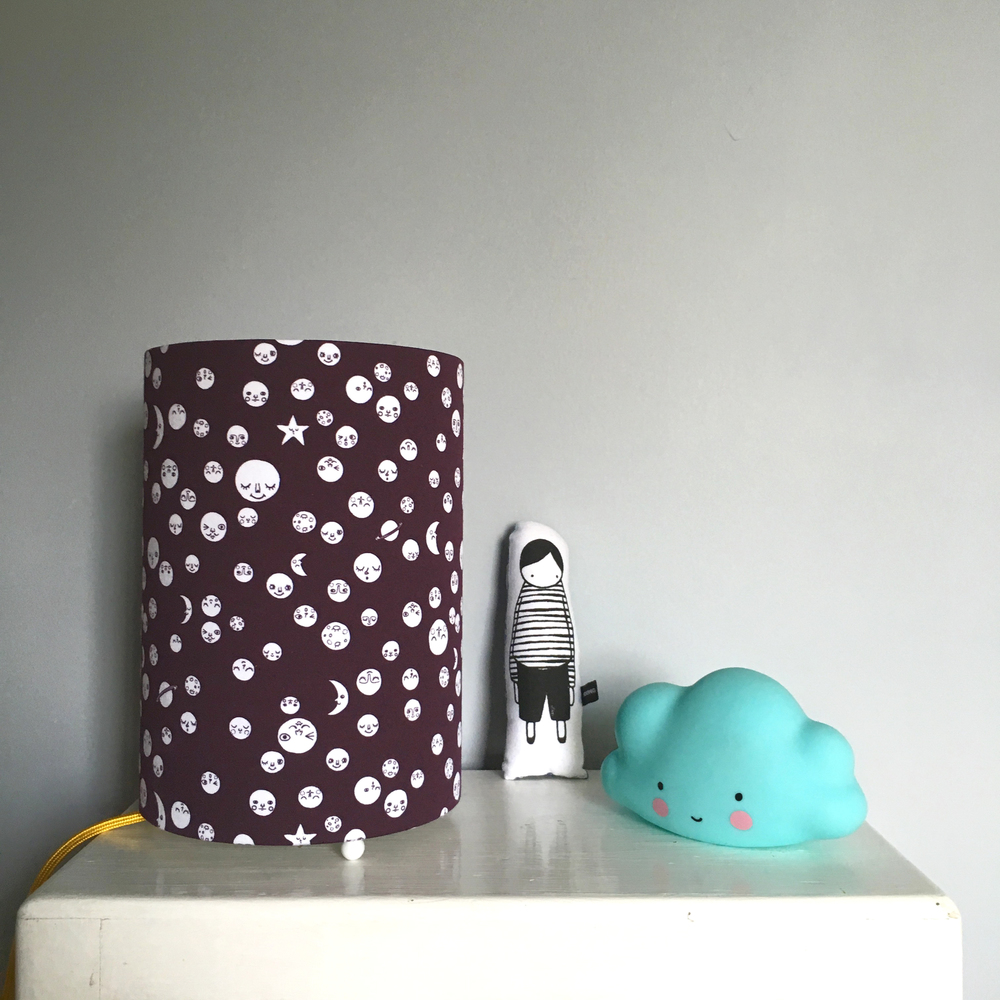 Love Frankie /TBC Polka Moons nightlight in Aubergine £38