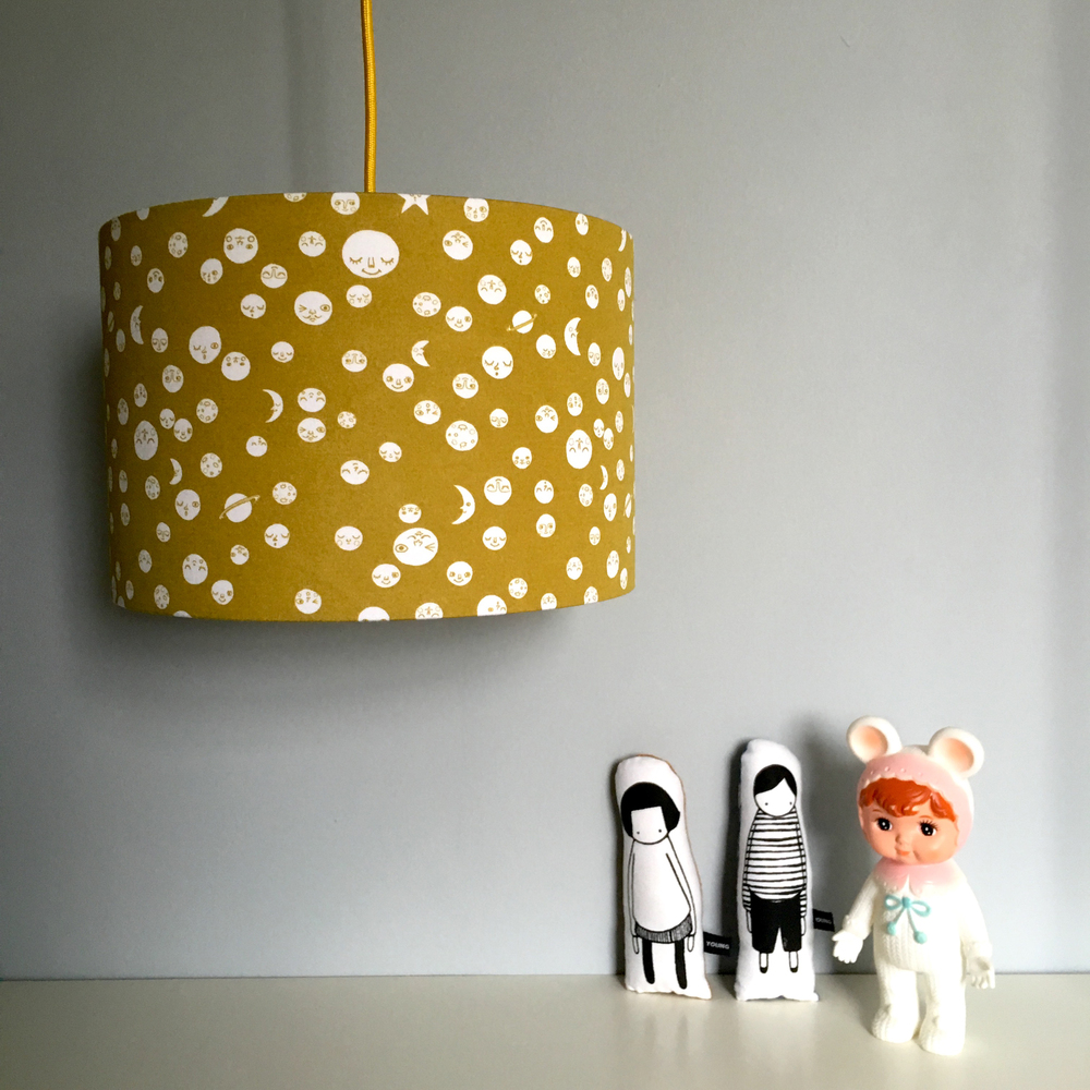 Love Frankie / TBC Polka Moons lampshade in damp sand