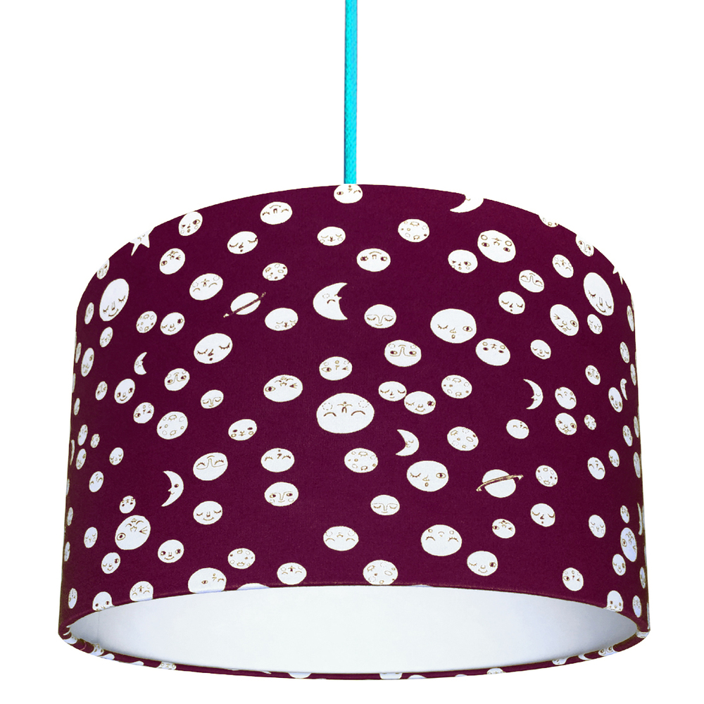 Love Frankie / TBC Polka Moons lampshade in Aubergine £35