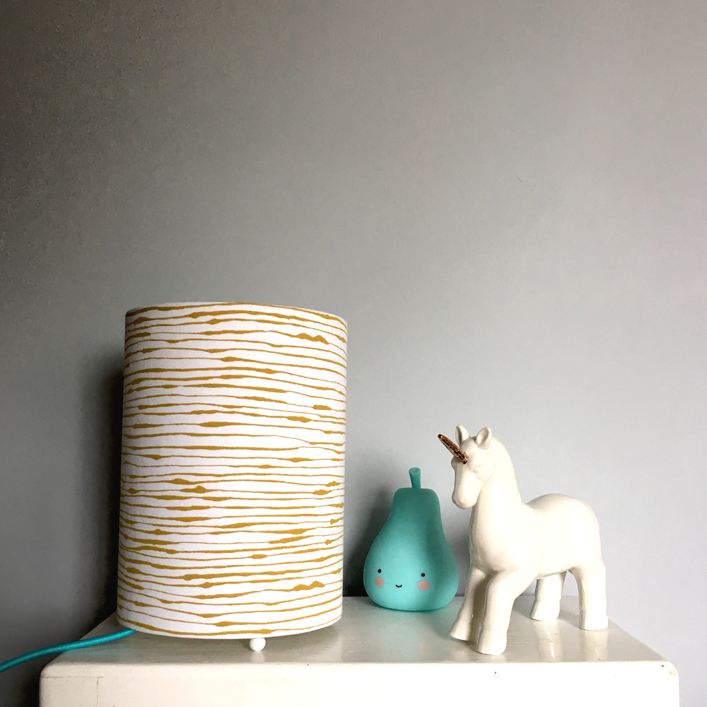 Love Frankie / TBC Wonky Stripe nightlight in damp sand £38