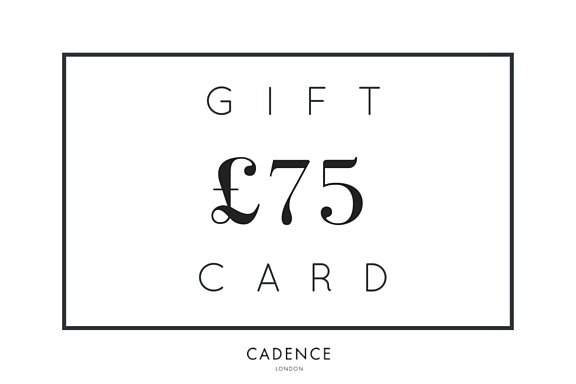 £75 voucher to spend at Cadence London. Prize giveaway competition