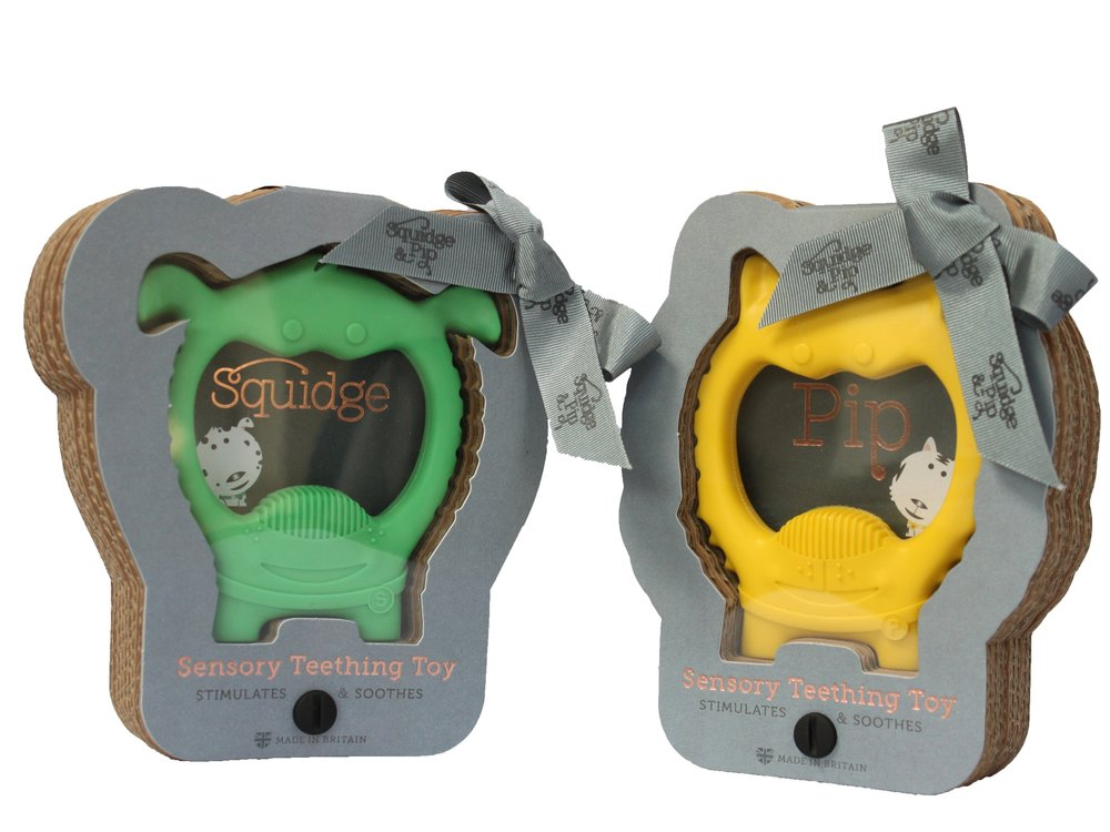 Squidge & Pip sensory teething toys for babies