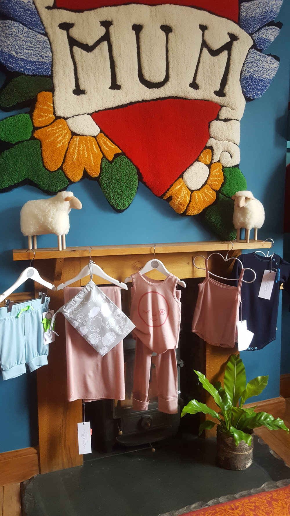 Smalls and The Bright Company collaboration at the Wool BnB