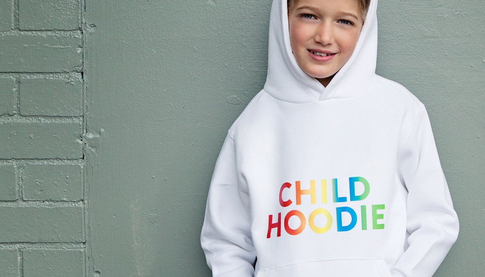 Parent Apparel white Child Hoodie slogan sweat
