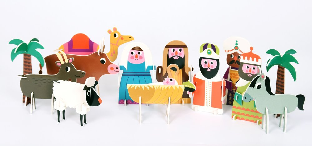 Engel 3d nativity puzzle