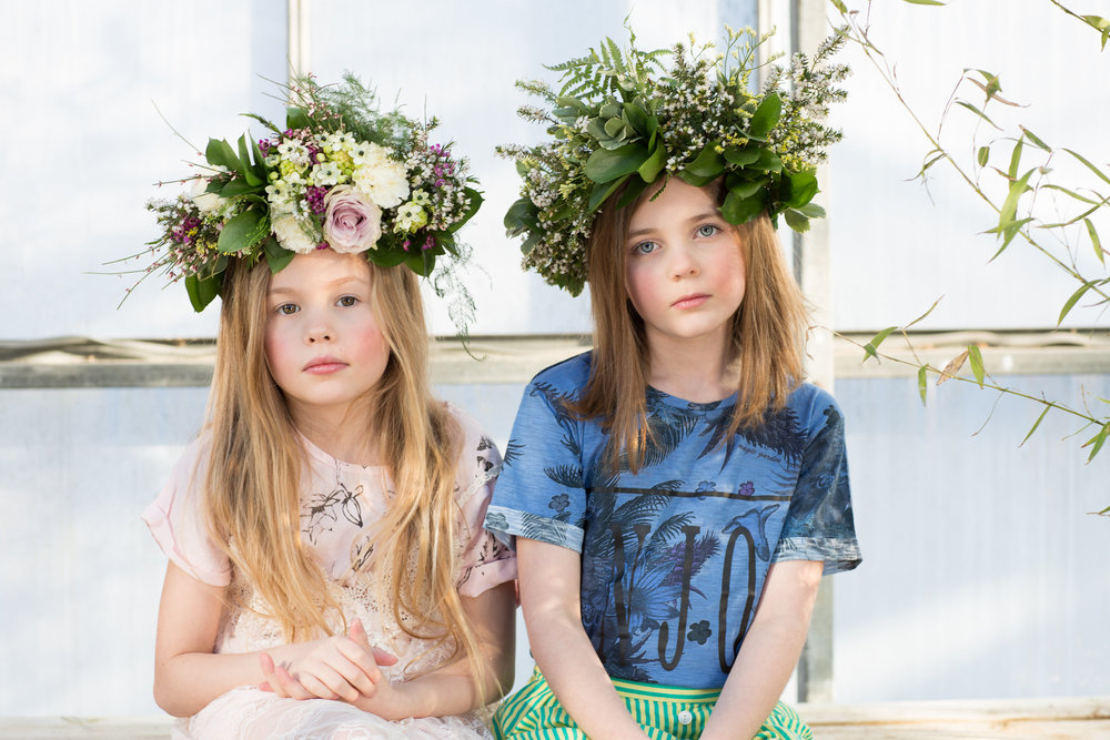 Sharon cooper botanical shoot kids editorial