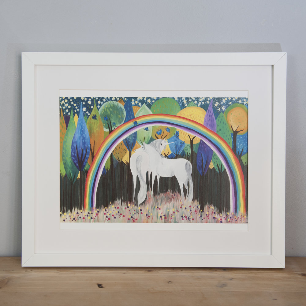 Copy of Land of the Midnight Rainbow , A3 print Framed, Sarah Lovell Art .jpg