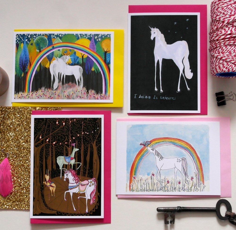 Copy of Unicorn cards with props, Sarah Lovell Art .JPG
