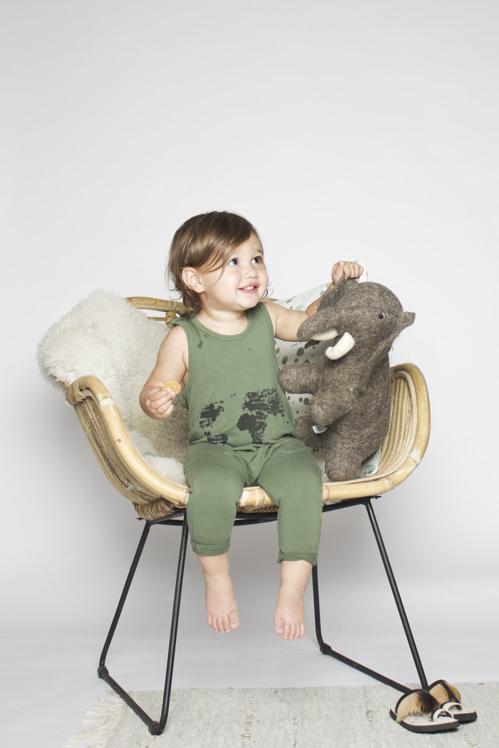 Little Indians Jumpsuit World - Loden Green