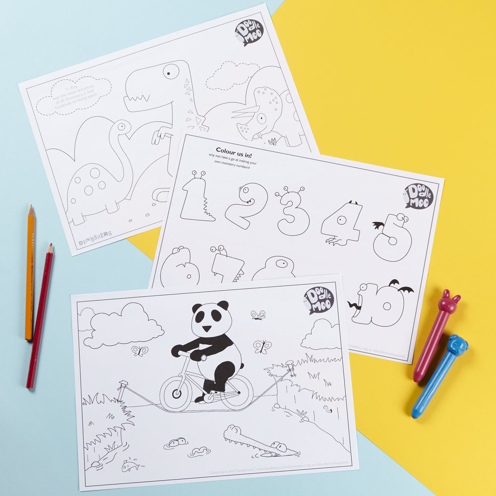 Doodlemoo colouring in printables