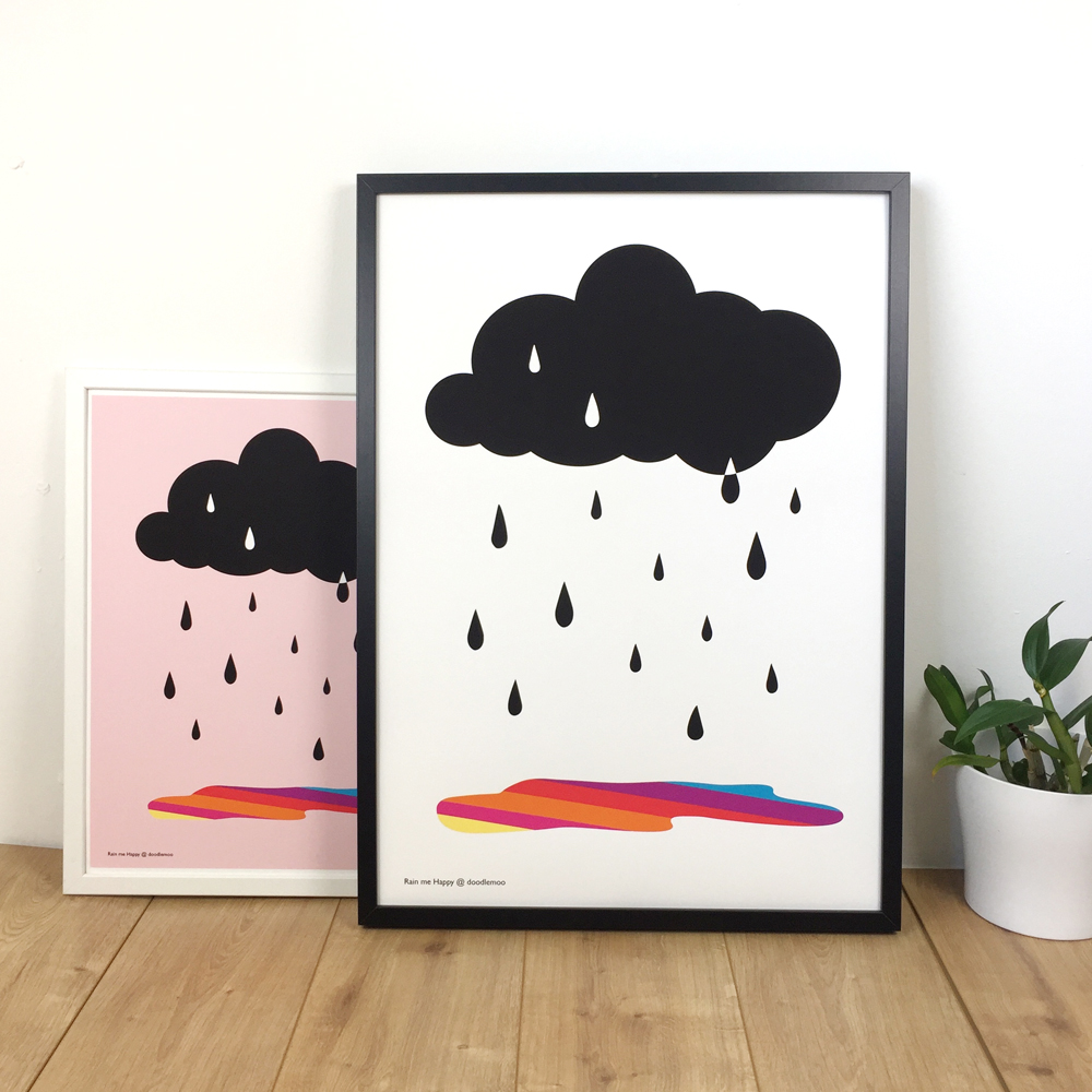Rain me Happy print by Doodlemoo