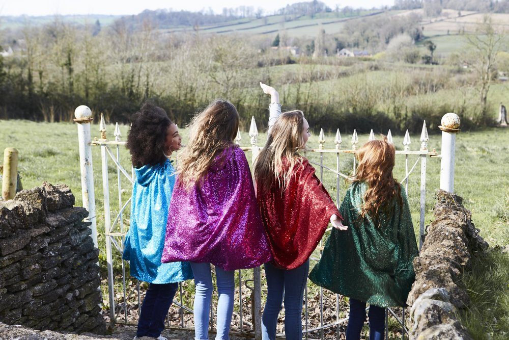 Pearl Lowe Selfish Mother collaboration sequin capes