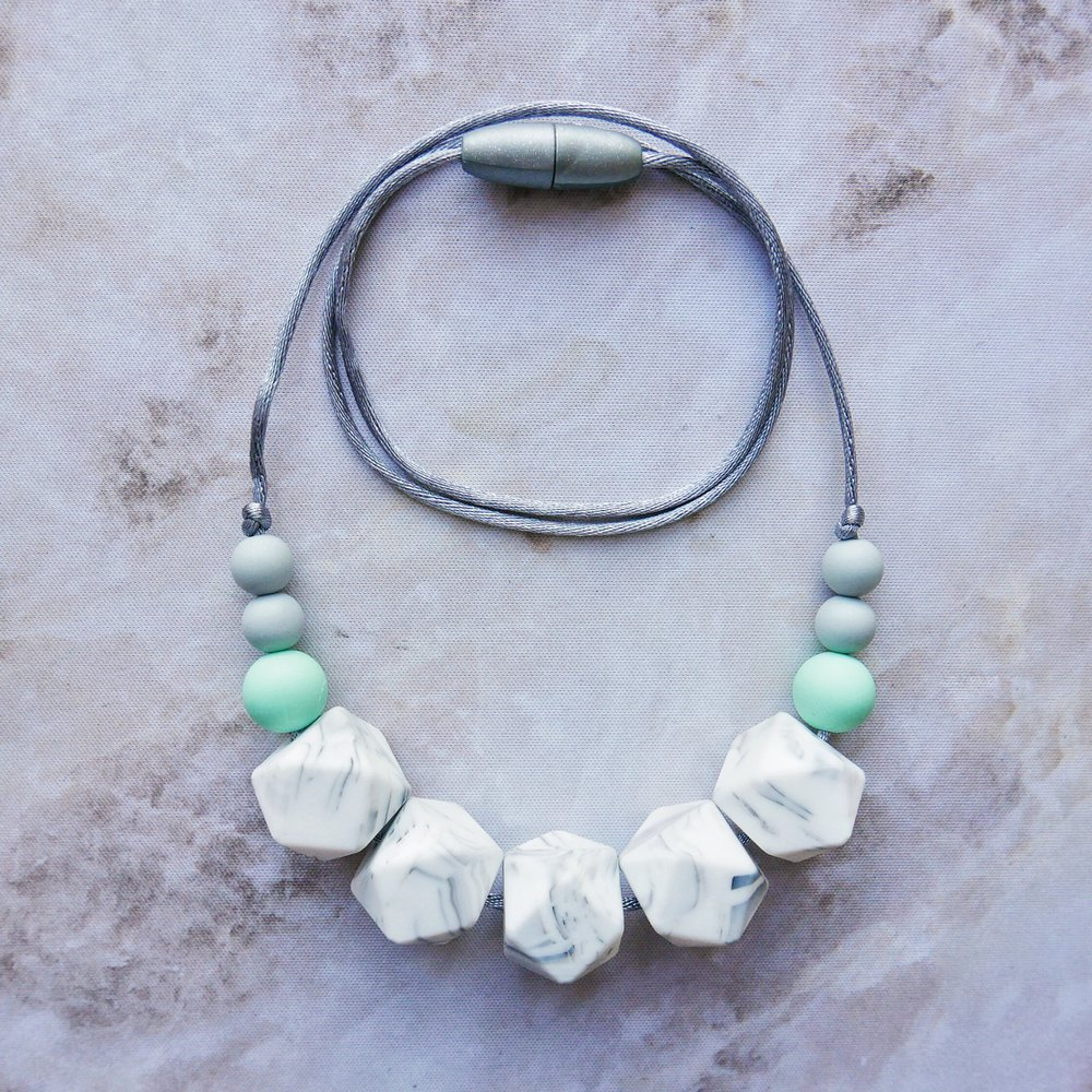 East London Baby Company Dalston marble teething jewellery