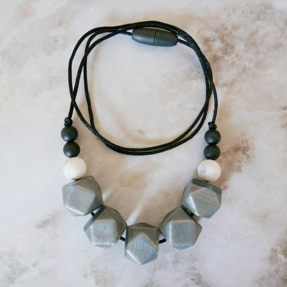 East London Baby Company Gunmetal metallic teething jewellery