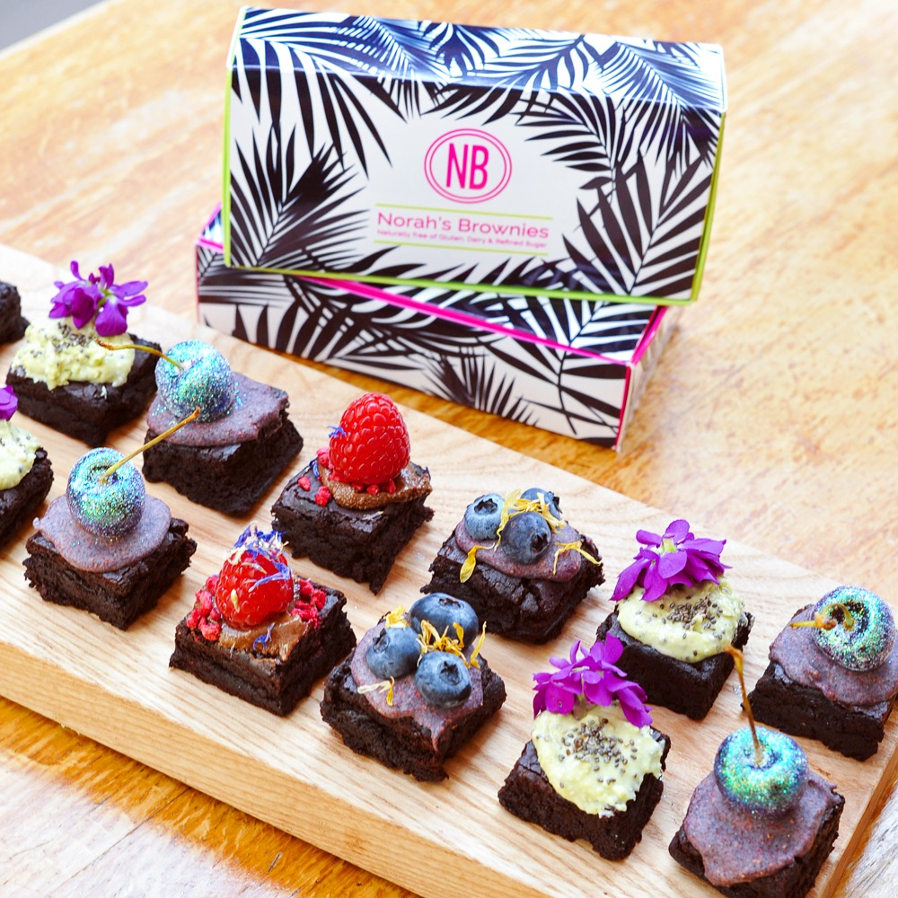Norahs gluten free, dairy free and refined sugar free brownies