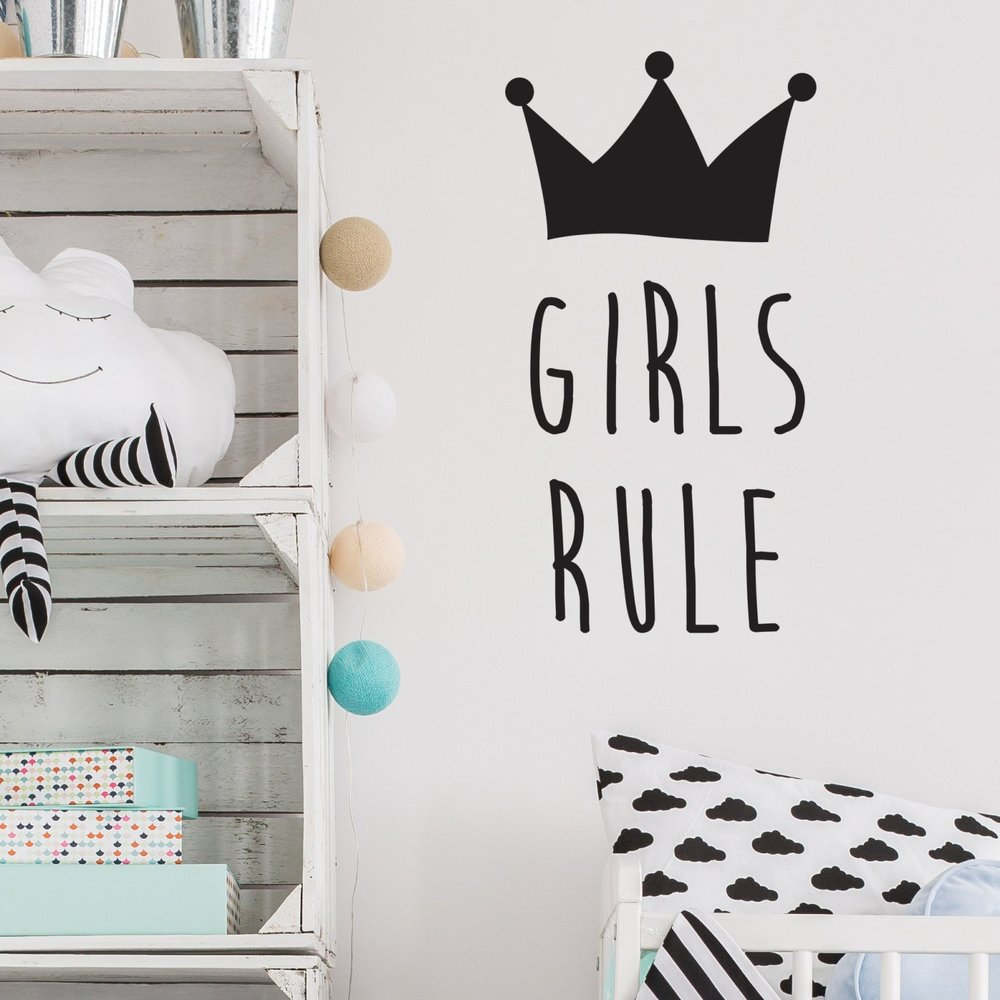 Girls rule wall sticker from Nutmeg