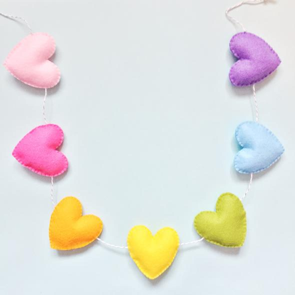 Heart garland, £20 Bertha & Co