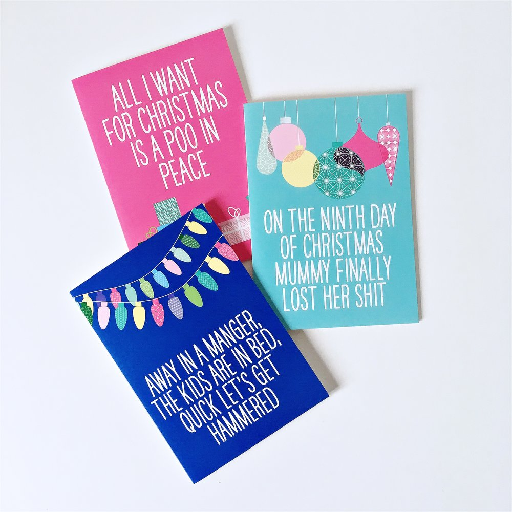 This Mama Does funny Xmas cards for parents
