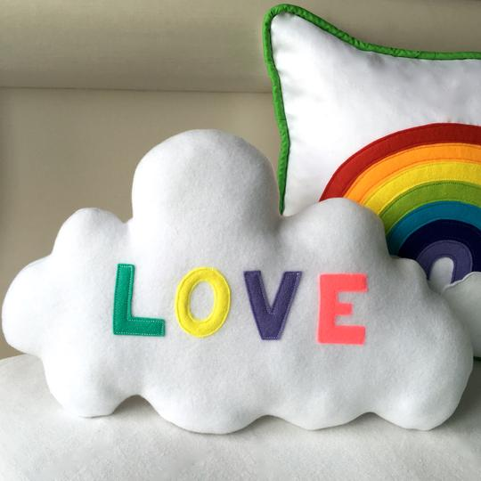 Cloud love and rainbow cushion