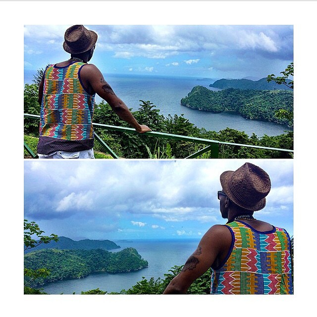 @Duainrichmondfela looking #fresh in his #LovenFresh #MensTank in #Jamaica #travelNoir