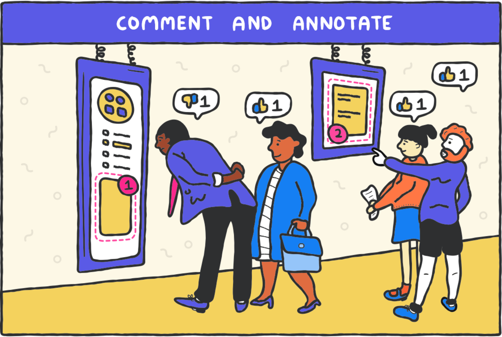 Abstract App comments and annotate illustration by alimofun
