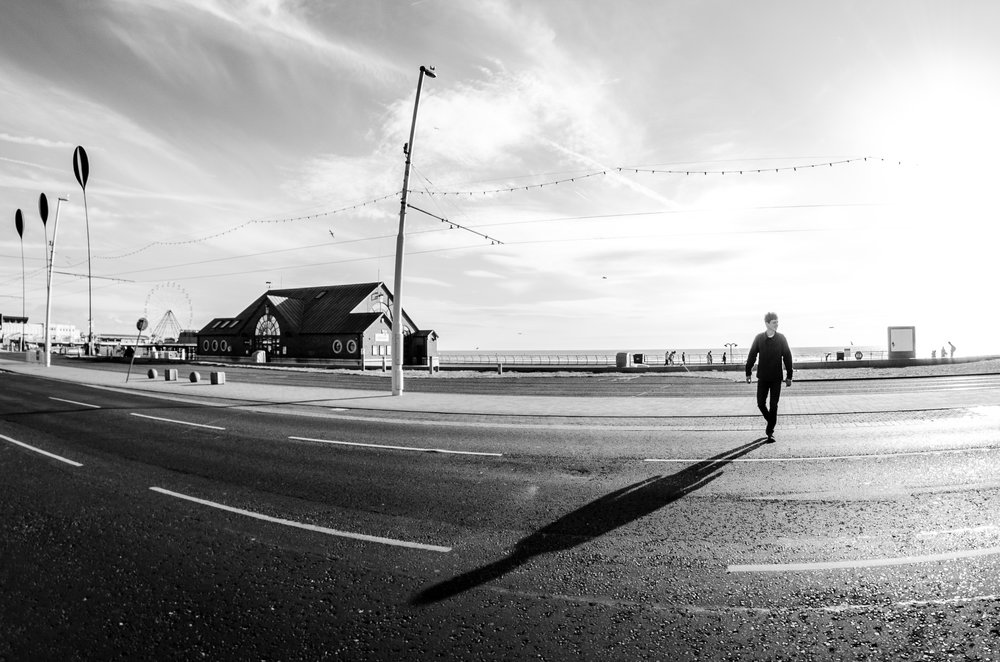 Twisted Wheel Blackpool, pre gig walk on the sea front.