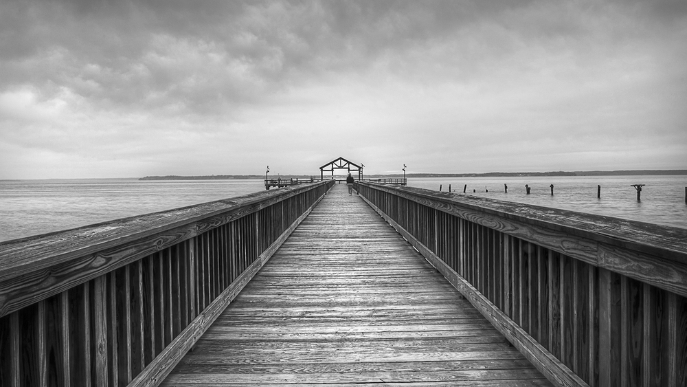Leesylvania Pier Black and White