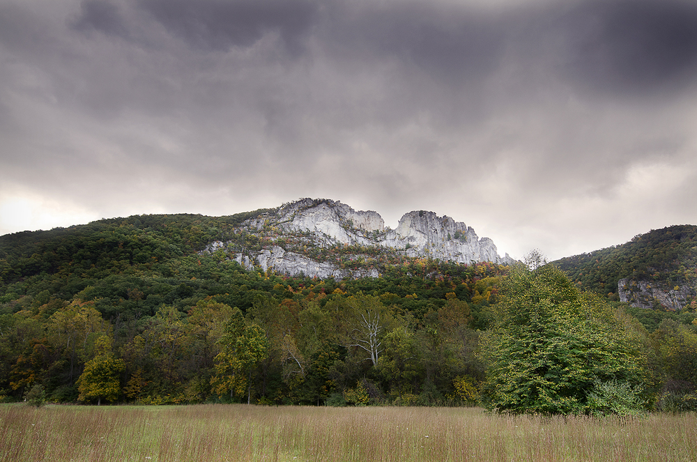 Seneca Rocks in Fall