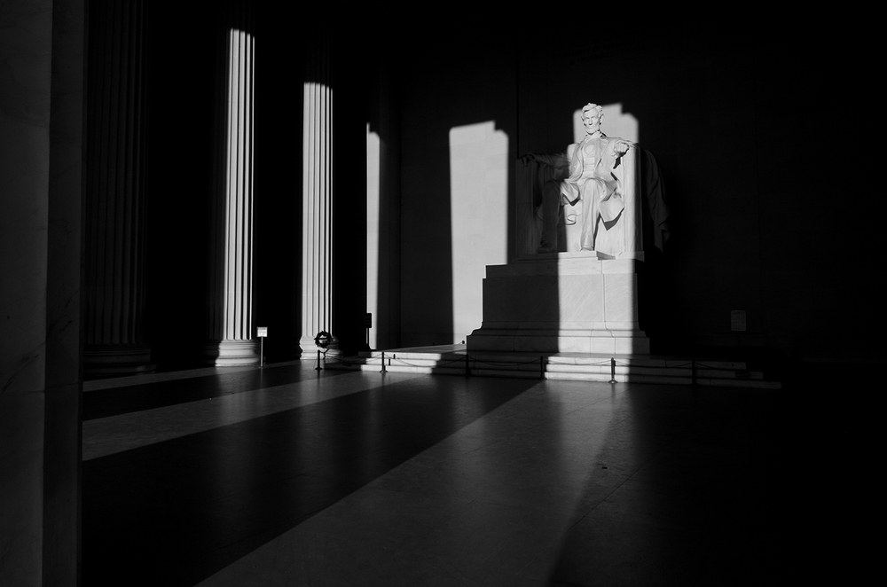 Lincoln Memorial Black and White