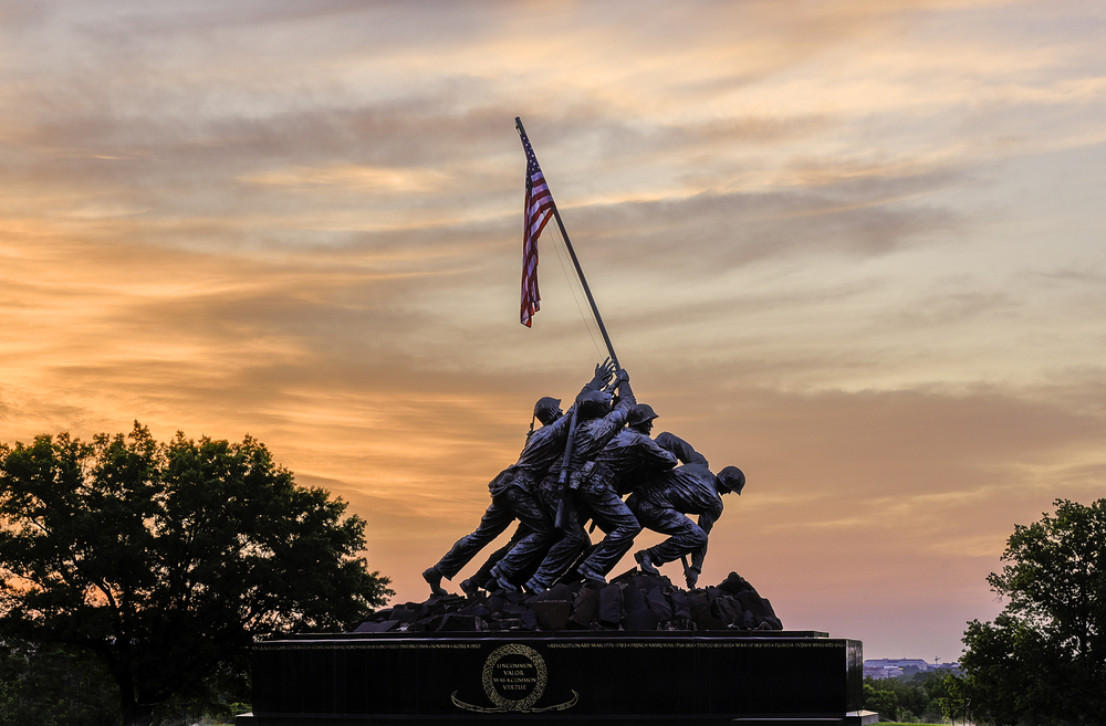 Sunrise Over Iwo Jima Memorial
