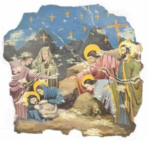 """The Lamentation of Christ"" fresco Paint elevation"