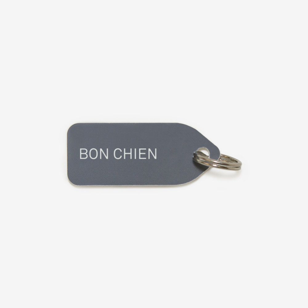 "MDP x GROWLEES ""BON CHIEN"" DOG CHARM, $15"