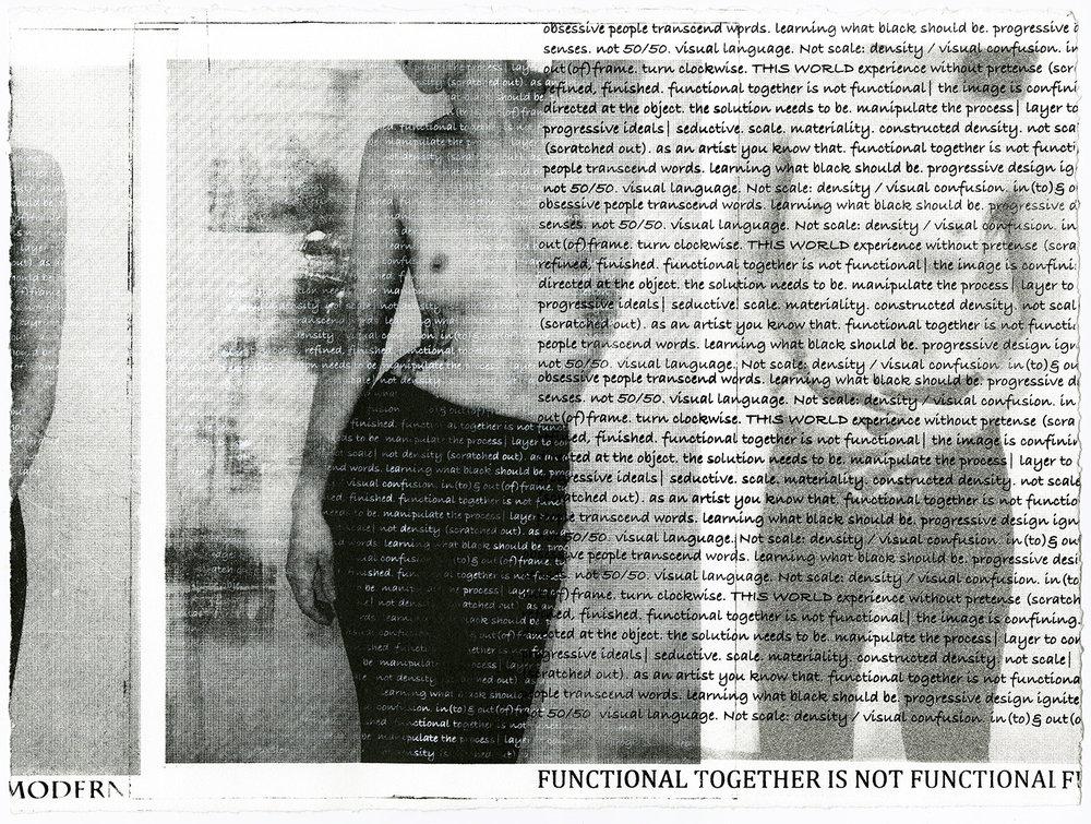 """CKM Film Still III , lithograph & screenprint on paper, 11x15x0"""", 2017"""
