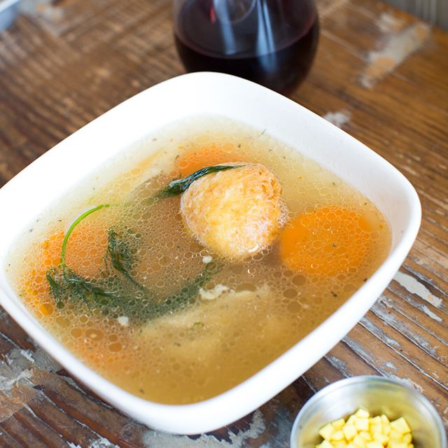 Have you tried our matzo ball soup yet? Our famous rotisserie chicken plus a crispy matzo ball 😍 #propositionchicken