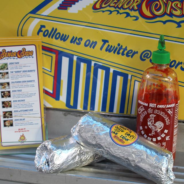 It's Monday and two burritos for lunch is perfectly acceptable. Get yours today from 11am-2pm at The Truck Stop, 2nd & Minna, 300 Pine, and 10th & Market. #senorsisig