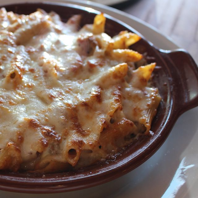 Our Baked Penne Bolognese will warm you right up on these chilly nights! #tomatina