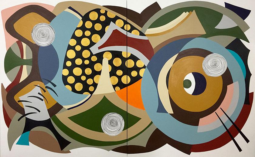 """El Dorado"" 60""x 96"" (152.4cm x 243.8cm) Acrylic on canvas"