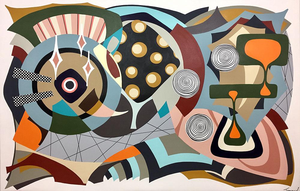 """Pronoia"" 75""x 115""(190.5cm x 292.1cm) Acrylic on canvas"
