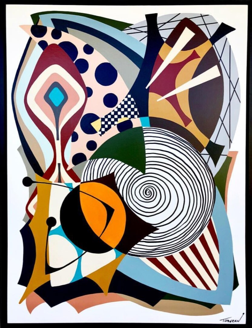 """""""Composite""""  48""""x 36""""(121.9cm x 91.4cm) Acrylic on canvas"""