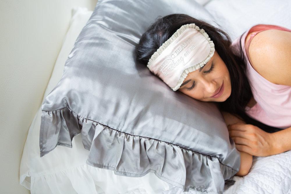 sleep mask sleeping beauty on silky pillow.JPG