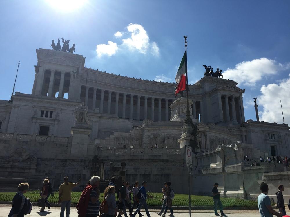 Rome Italy piazza venezia