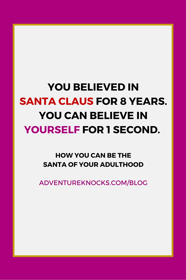 believing in yourself holidays santa