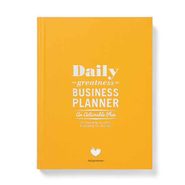 The Daily Greatness Business Planner. #onthelist