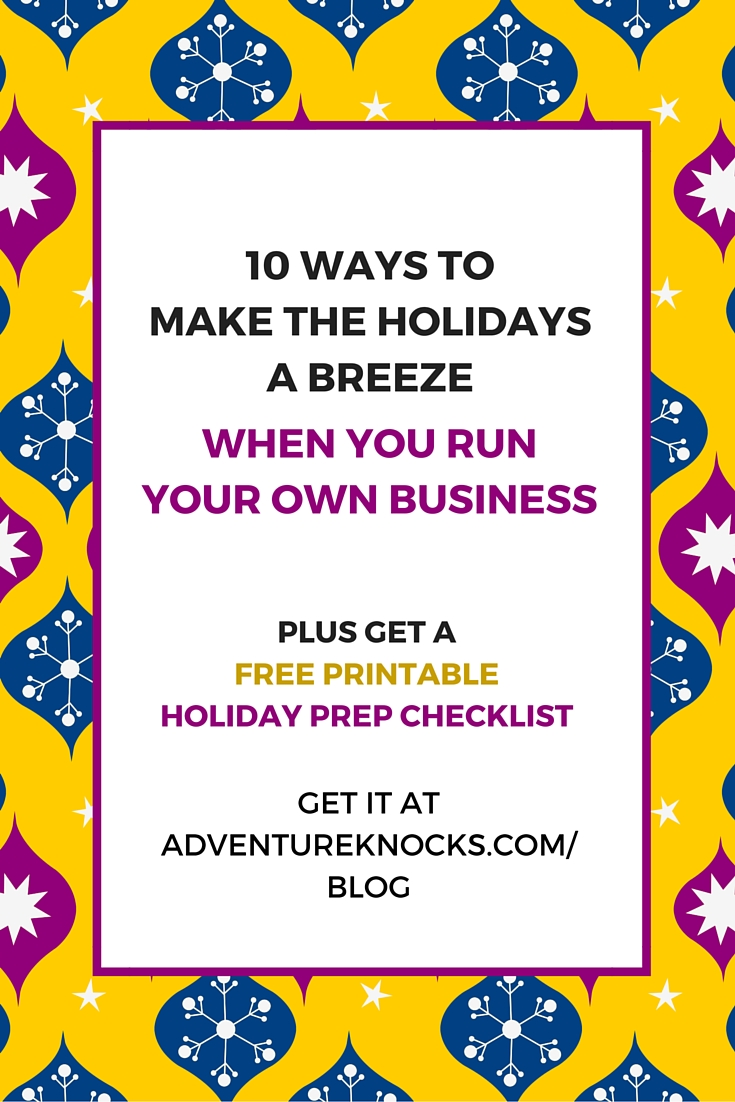 holiday prep checklist for entrepreneurs