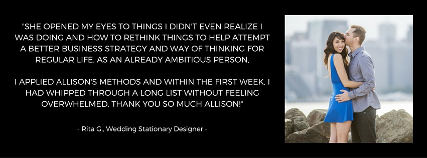 Testimonial for Allison Horner, Business Success Coach and Strategist, Adventure Knocks, adventureknocks.com