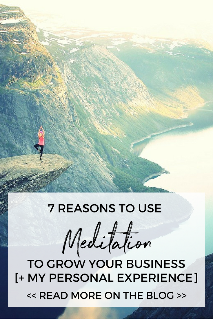 7 Reasons to use meditation to grow your business faster (plus my personal recently experience that healed some epic shit) adventureknocks.com/blog