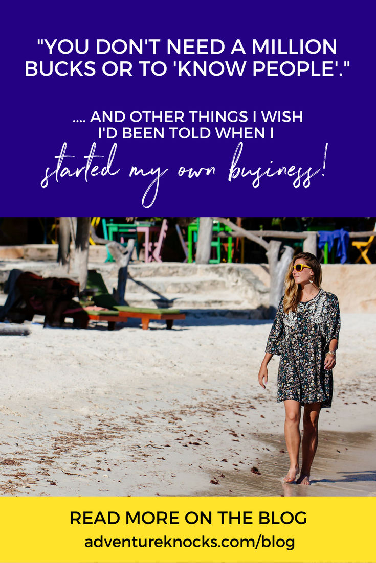 What I Wish I'd Been Told When I Started My Own Business - aka Entrepreneur Myths Revealed! Read more on the blog by Allison Horner, Business + Life Joyologist + Coach, Podcast Host + Author at adventureknocks.com/blog