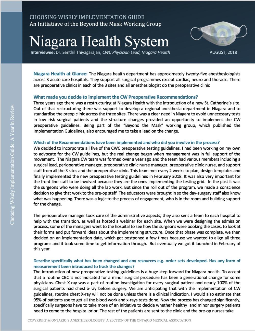 Niagara Health System -