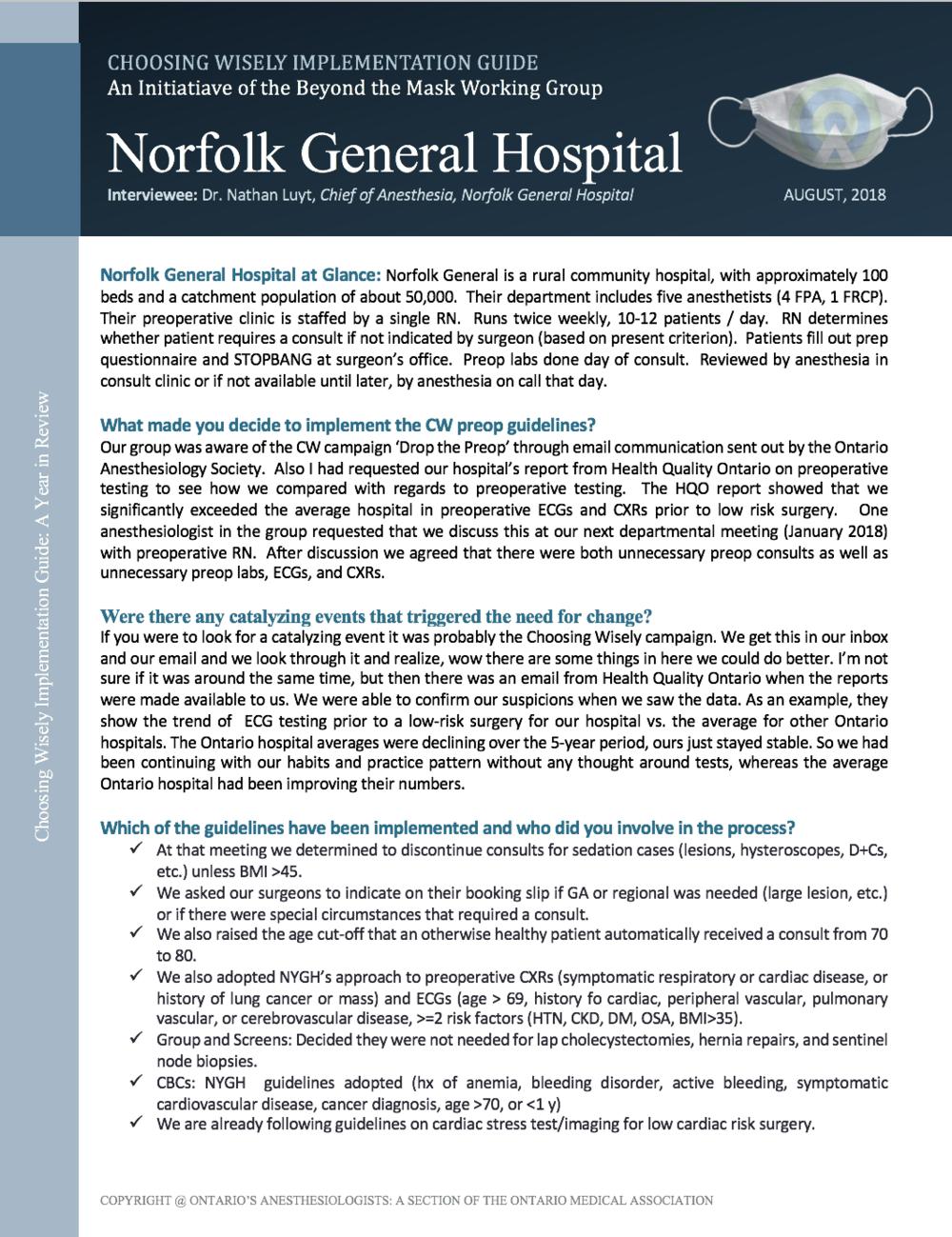 Norfolk General Hospital -