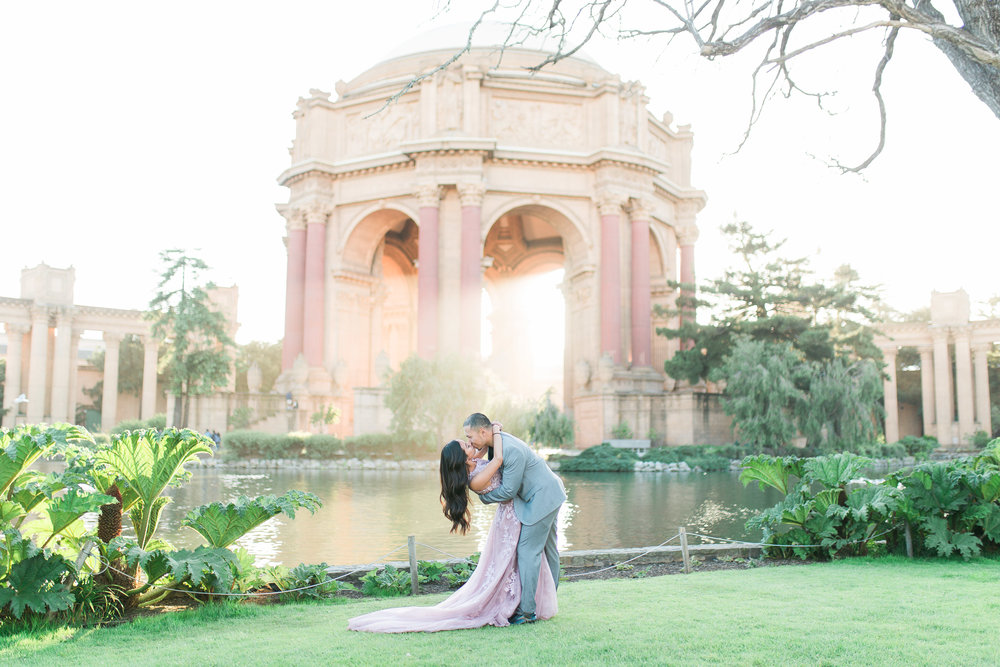 Best Engagement Photo Locations in San Francisco - Palace of Fine Arts Engagement Photos by JBJ Pictures (4).jpg